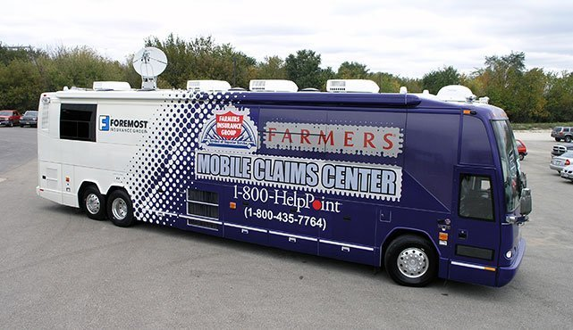 Foremost Farmer's Insurance Mobile Claims Vehicle