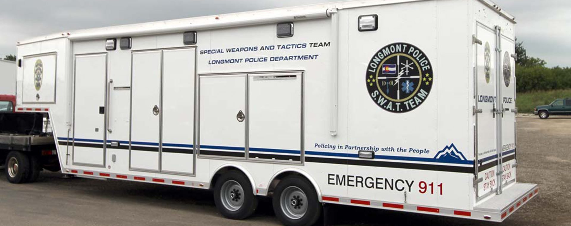 Longmont SWAT Team Equipment Trailer