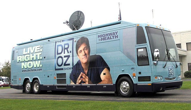 Dr Oz Show Bus - Mobile Production Studio