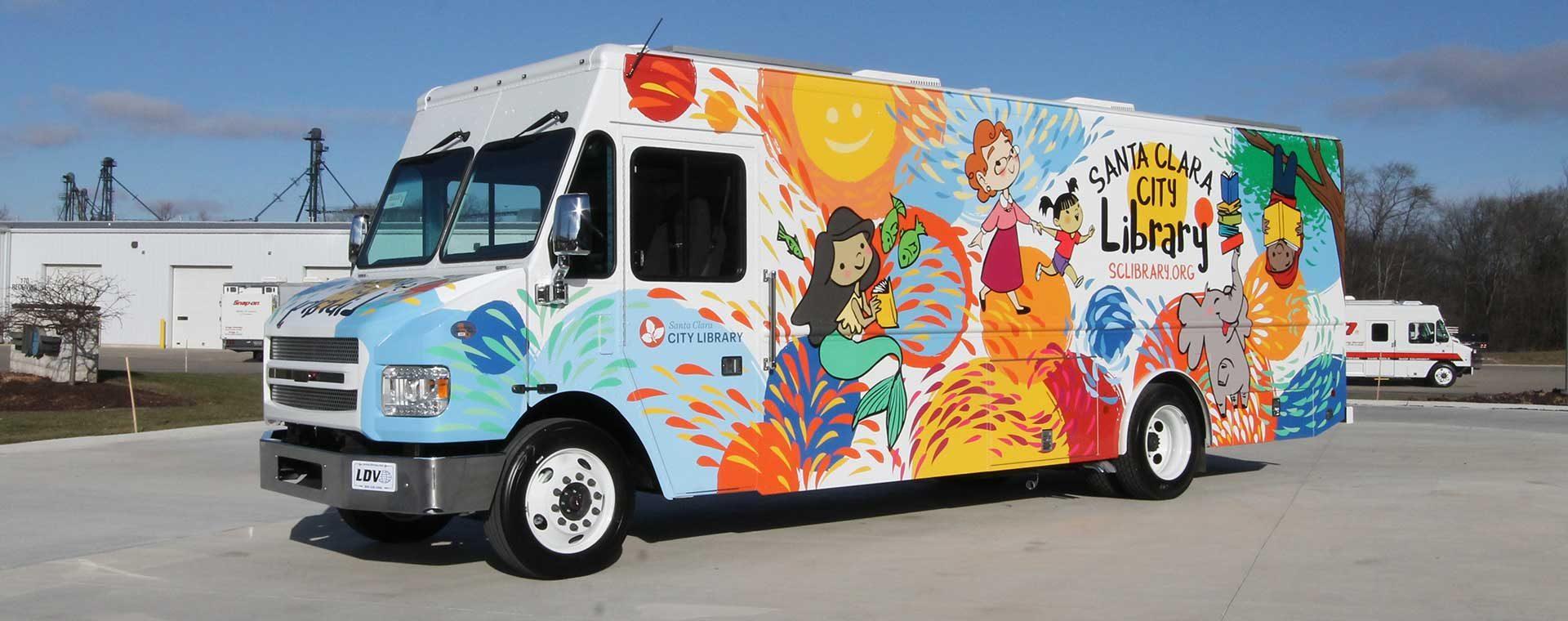Santa Clara Bookmobile exterior