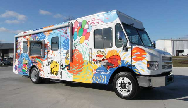 santa clara city library bookmobile