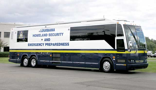 Louisiana Homeland Security and Emergency Preparedness Mobile Command Coach
