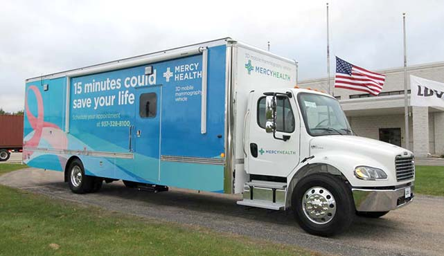 Mercy Health mobile mammography vehicle