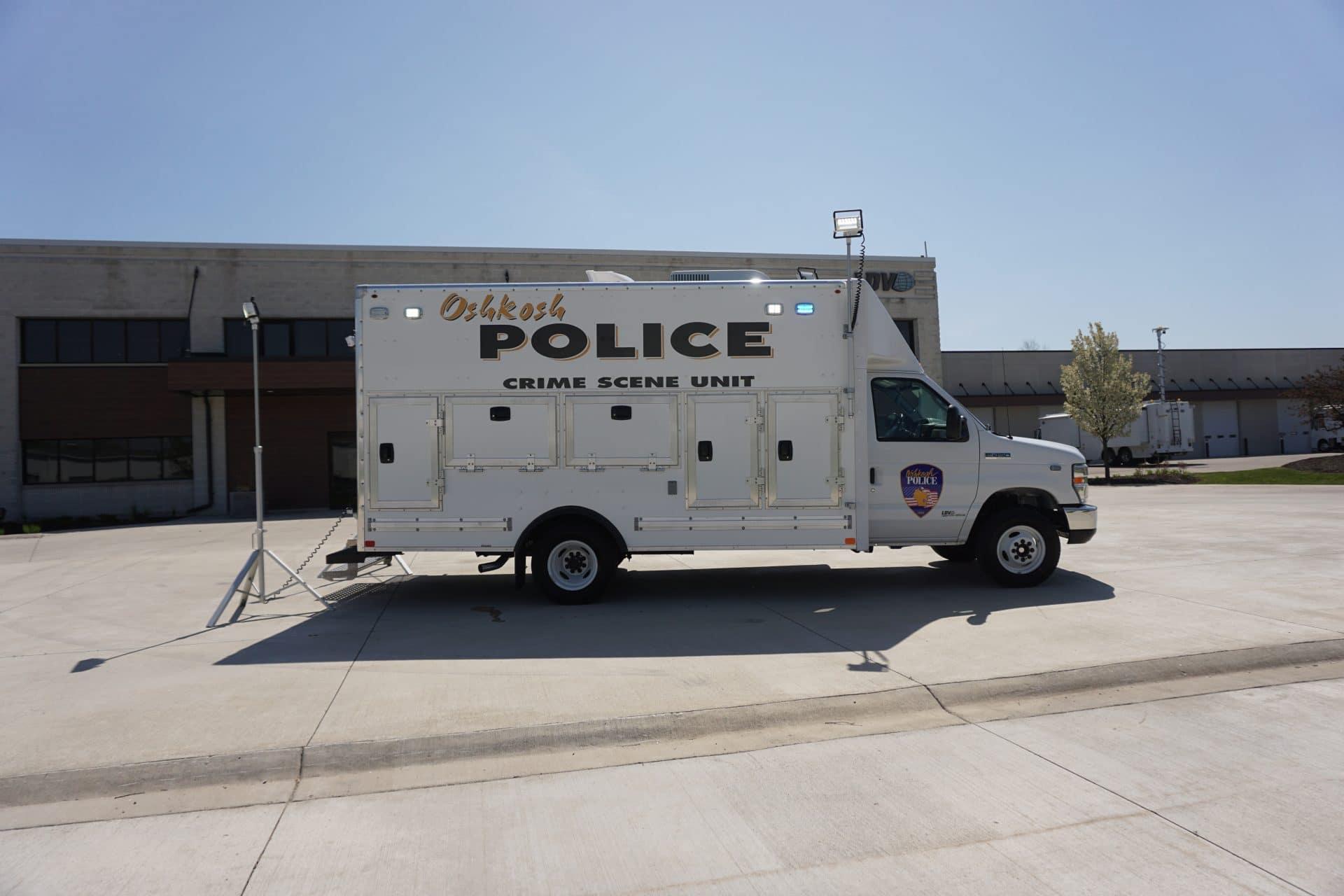 Oshkosh PD LDV crime scene vehicle